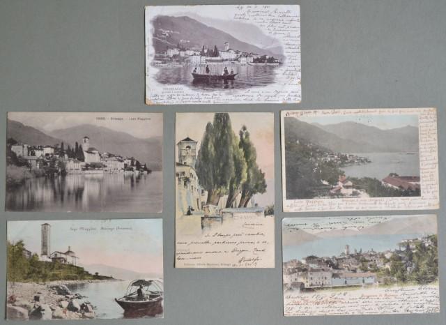 Estero. SVIZZERA, BRISSAGO. Sei cartoline d'epoca viaggiate tra il 1901 - 1909.