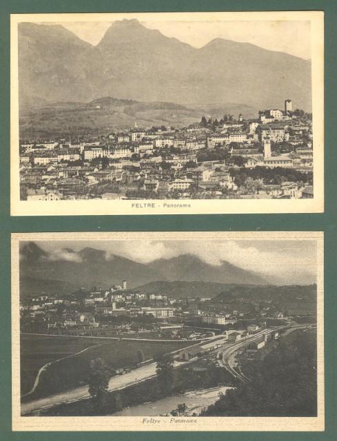 Veneto. FELTRE, Belluno. Due cartoline non viaggiate, circa 1940.