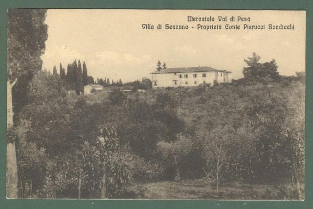Toscana. MERCATALE VAL DI PESA, Firenze. Villa di Senzano. Cartolina d'epoca non viaggiata, circa 1920.
