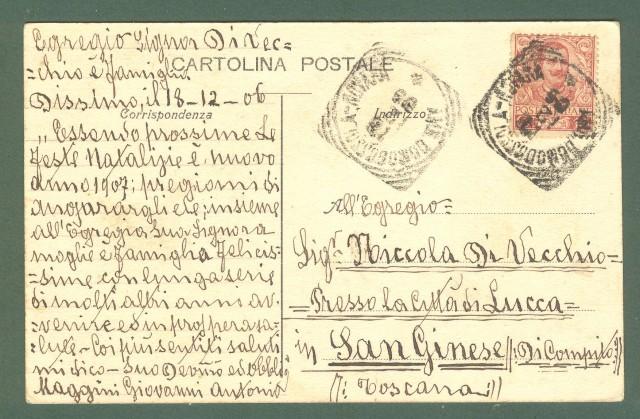 Piemonte. DOMODOSSOLA, Verbania. Stazione. Cartolina d'epoca viaggiata nel 1906
