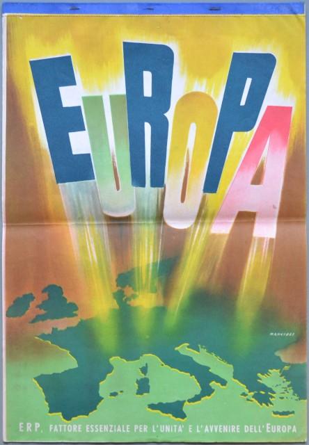CALENDARIO ERP 1951. Stampato a colori in litografia ਠcomposto da 12 tavole (oltre alla copertina) disegnate da Mancioli.