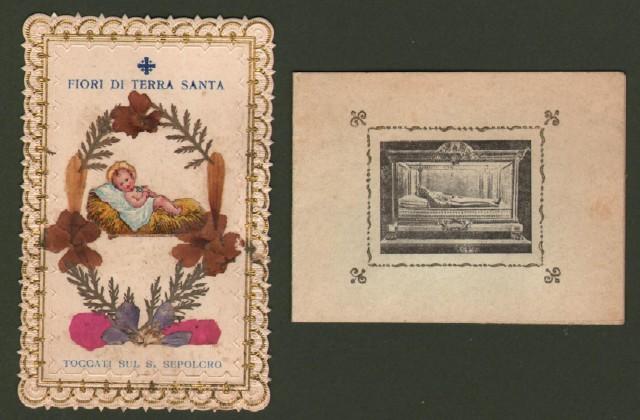 RELIQUIE DA CONTATTO. Fiori di Terrasanta - Fiori toccati alle Reliquie del Santuario di S. Chiara di Assisi.
