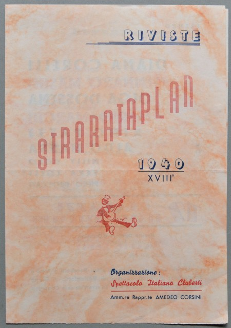 VARIETA'. Riviste STRARATAPLAN, anno 1940.