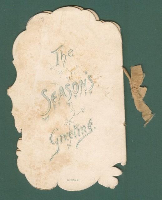 CALENDARIETTO ANNO 1896. Cm 7 X 11. Copertina traforata contenente 4 pagine.