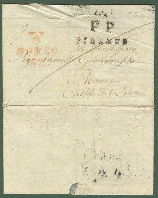 Prefilatelia. TOSCANA. Lettera del 7.3.1833