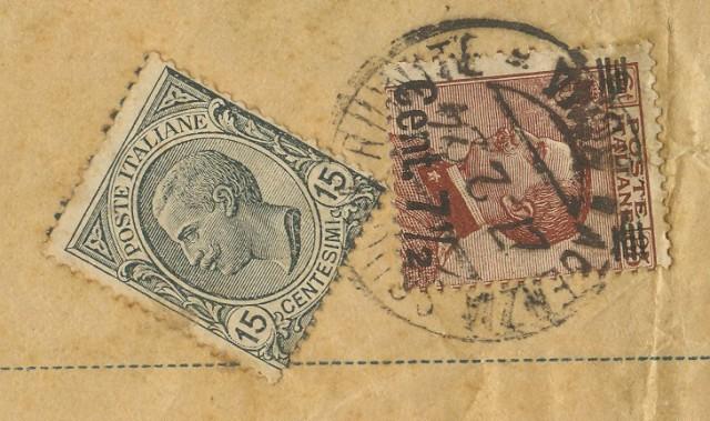 Regno. Piego di libro di tre porti (ogni 50 gr. cent. 7,5)