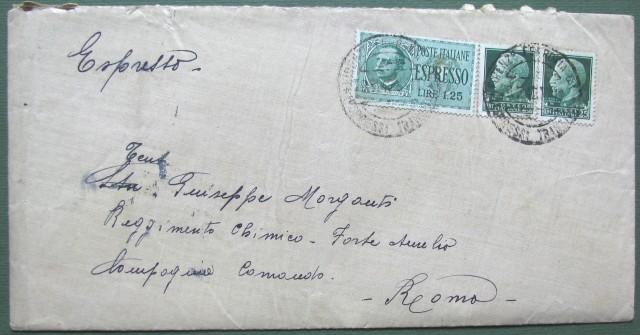 Regno. Espresso per Firenze per Roma del 9.7.1942.