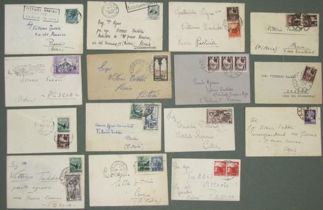 REPUBBLICA. BIGLIETTI DA VISITA. 15 biglietti spediti dall'ottobre dal 1946 al dicembre 1955.