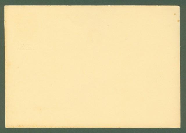 Colonie. SOMALIA. Cartolina postale da cent. 30 bruno tipo Imperiale con sovrastampa in nero (Filagrano C23).