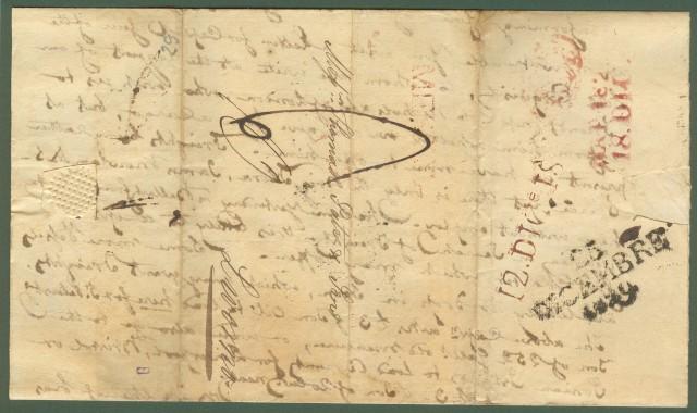 SICILIA - TOSCANA. Lettera del 1829 da Messina a Livorno.