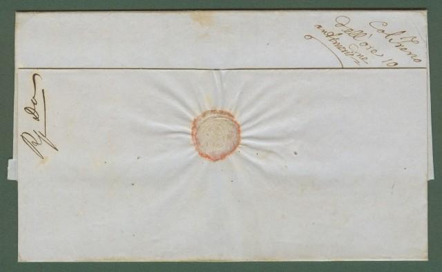 STRADA FERRATA LEOPOLDA. TOSCANA. Lettera, completa di testo, del 4.3.1857 da Signa a Livorno.