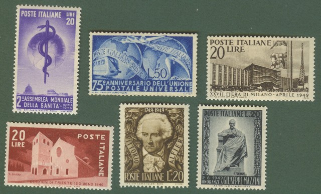REPUBBLICA. INSIEME formato da francobolli del 1949