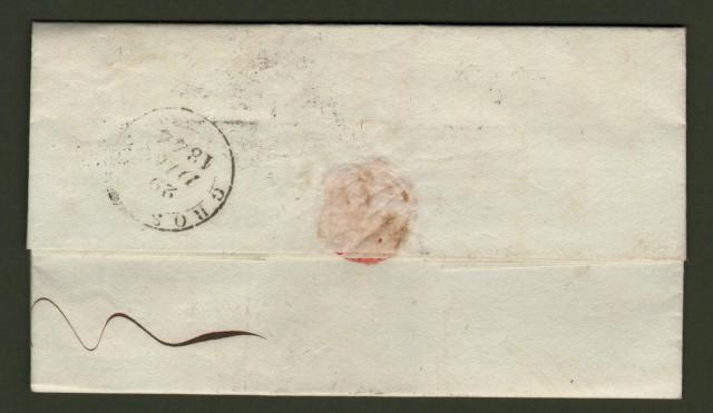 TOSCANA. Lettera del 27.12.1844 da Colle a Grosseto. Uso contemporaneo dei bolli lineare e datario.