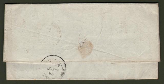 TOSCANA. Lettera del 21 ottobre 1844 da Orbetello per Pieve S. Stefano.