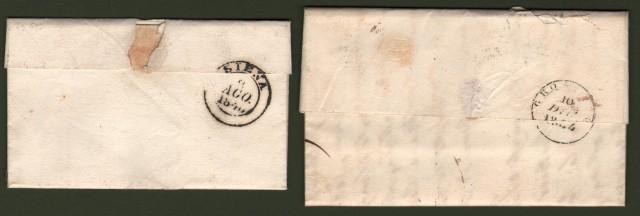 TOSCANA. Due lettere da Massa Marittima del 1844 e 1846.