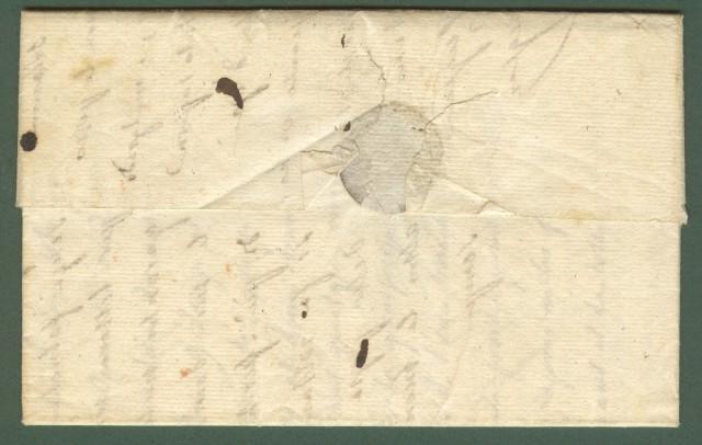 Prefilatelia. TOSCANA. Lettera del 9 ottobre 1831 da Soreze (Francia) a Castel del Piano.