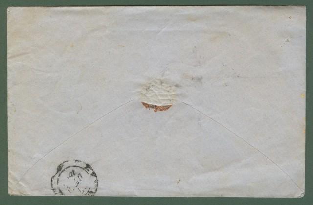 Prefilatelia. TOSCANA. Lettera da Pisa per Livorno del 27 ottobre 1860. Ovale nero TELEGRAFI DI TOSCANA DIREZIONE SUPERIORE.
