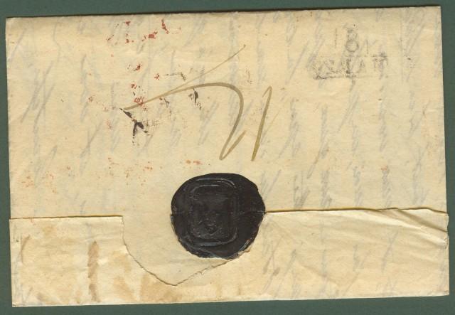 TOSCANA. Lettera da Velvey (Svizzera) del 1 marzo (senza anno, ma probabilmente 1823) per Firenze via Milano.