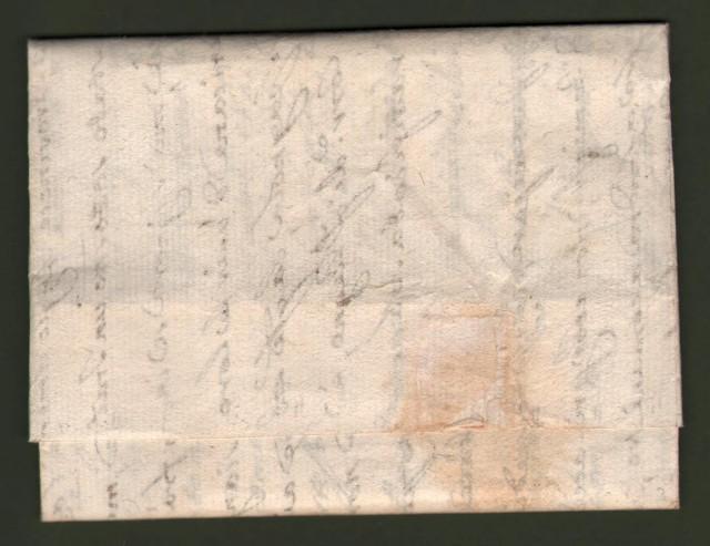 UMBRIA. Lettera del 19 Settembre 1795 da Roma per Spoleto. Sul recto bollo a secco (spade incrociate) del sub appaltatore postale pontificio.