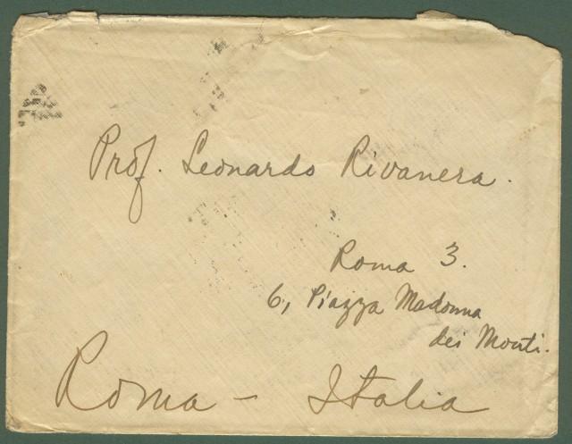 FILIPPINE. Lettera del 15.1.1924 da Manila per Roma. Affrancata con cinque pezzi 2 cent. verde (uno non dentellato in alto).