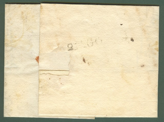 PREFILATELIA. UMBRIA. Lettera da Caldarola (Macerata) aTerni del 24.8.1832.