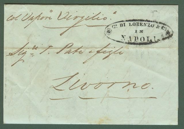 FORWARDED. Lettera del 1842 da Napoli a Livorno