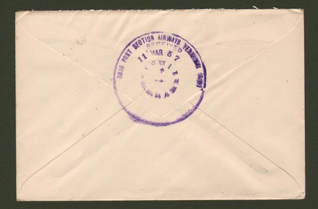 AUSTRALIA. FIRST FLIGHT LONDON - SYDNEY 4.5.1957.
