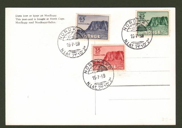 NORGE - NORVEGIA. Cartolina Masximim 15.7.1959.