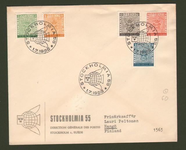 SVERIGE - SVEZIA. Stockolmia 1955. Letter for Finland.