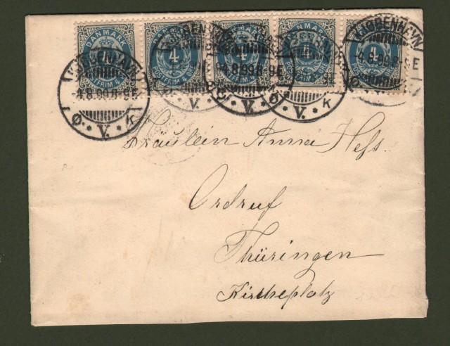DANMARK - DANIMARCA. Letter 4.8.1899 for Germany.