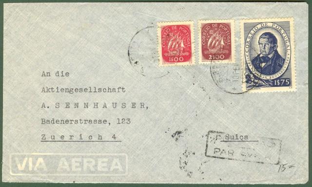 PORTOGALLO. Lettera aerea del 10.2.1941 per Zurigo