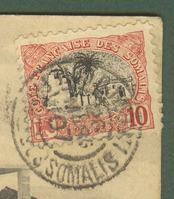 COSTA DEI SOMALI. FRANCIA. Cartolina del 1907 da Gibuti per Pistoia