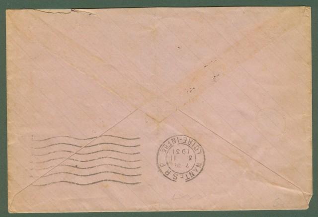 FRANCIA. Lettera del 1931 per Nantes
