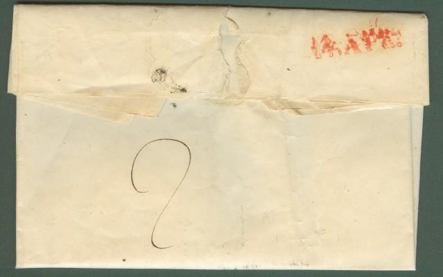 PIEMONTE. VILLANOVA + P.P. in stampatello nero su lettera per Torino del 13.4.1849