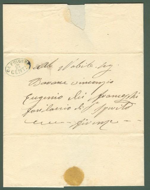 STRADE FERRATE LIVORNESI. Lettera per Firenze del 12.4.1860.