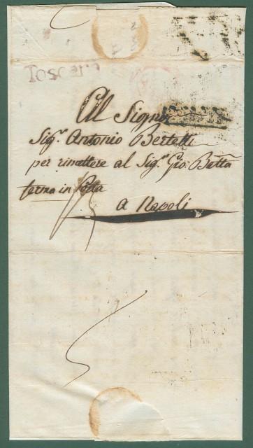 TOSCANA. Periodo napoleonioco. Lettera da Firenze per Napoli del 13 Aprile 1808. Completa di testo