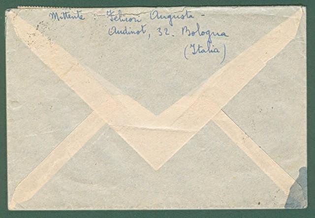 AEROGRAMMA 14.5.1948 da Bologna a Mogadiscio. In tariffa di lire 190