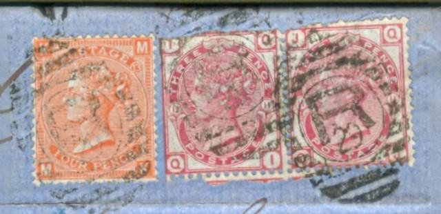 Storia postale Estero. GRAN BRETAGNA. Raccomandata del 17 Novembre 1873 da Londra a Genova.