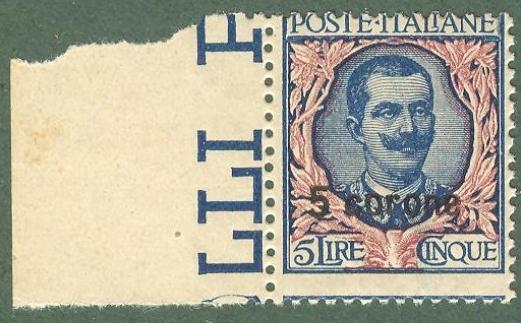 Colonie e occupazioni. DALMAZIA. Anni 1921 - 1922. Valore da 5 corone e valore da 10 corone.