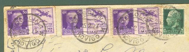 Storia postale Regno. Raccomandata del 25.02.1943.