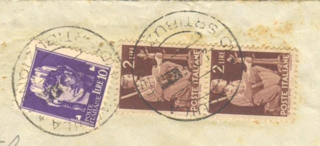 Storia postale ITALIA LUOGOTENENZA. Raccomandata del 04.02.1946 da Aquila a Roma.