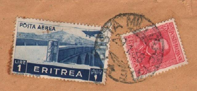 GUERRA D'AFRICA. Raccomandata del 29.1.1938 per Roma dalla POSTA MILITARE 130 E, guller annullatore di cent. 75 Eritrea e lire 1 posta aerea Eritrea.