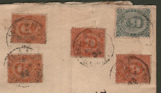 Storia postale. REGNO ITALIA. Grossa fascetta raccomandata del 14 Novembre 1892 da Milano a Firenze ...