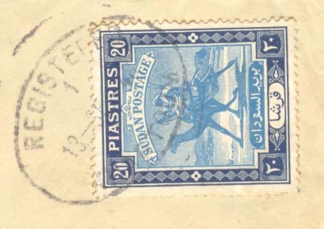 Storia postale estero. AFRICA. SUDAN. Registered letter 9.9.1948. Khartoum for U.S.A..