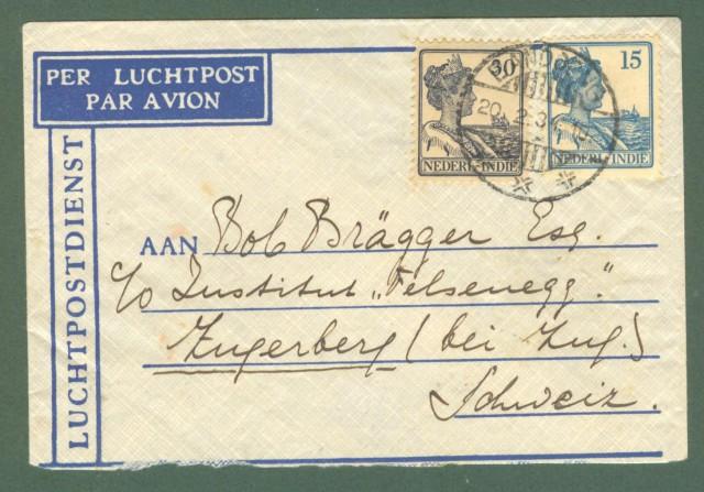 Storia postale estero. OLANDA. HOLLAND. Netherland Indie. Letter of 1934 for Switzerland.