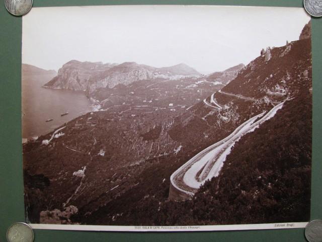 ISOLA DI CAPRI. Panorama colla strada d'Anacapri.