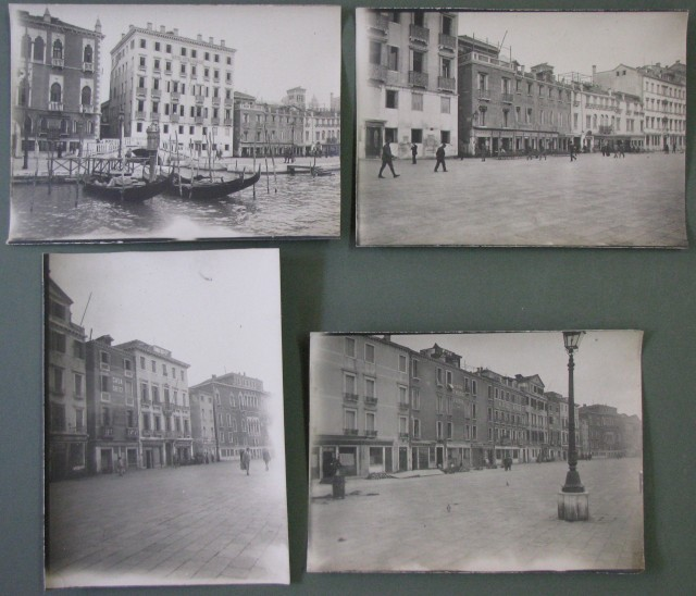 Venezia - Riva Schiavoni. Insieme di quattro diverse fotografie
