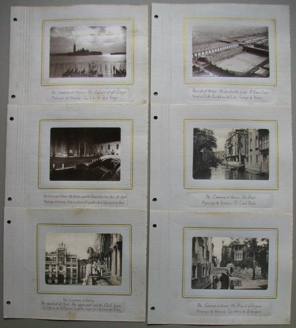VENEZIA. 6 fotografie d'epoca (circa 1935)