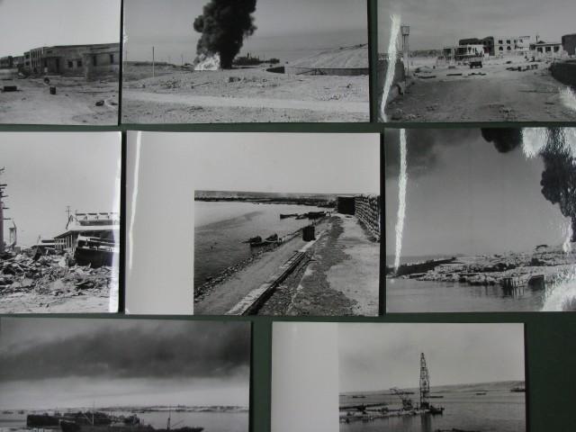 (Libia - Tobruck - seconda guerra) Insieme di 8 fotografie scattate subito dopo la battaglia del 21.6.1942 in cui le truppe dell'Asse, al comando di Rommel, conquistarono la città.