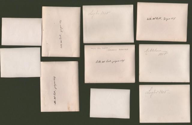 Calabria. VOLTA DEL PONTE, SPEZZANO ALBANESE (Cosenza). Insieme di 10 foto (sette sono datate a retro giugno/luglio 1905) raffiguranti scene agricole (per lo pirelative alla mietitura).